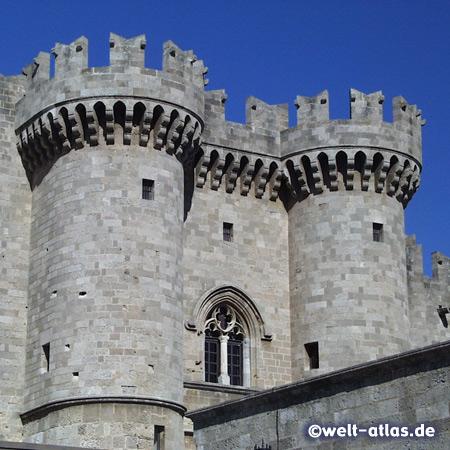 Palast der Großmeister in der Stadt Rhodos