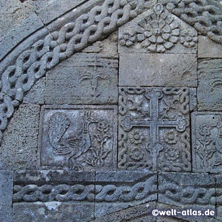 Detail eines mittelalterlichen Gebäudes in Rhodos,