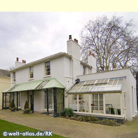 Haus des Poeten John Keats in Hampstead, wichtiger Dichter der englischen Romantik