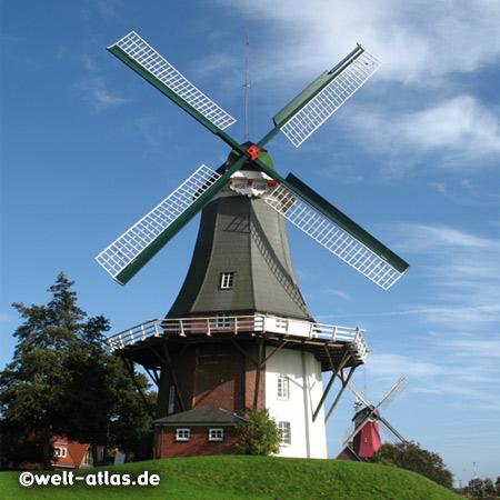 Greetsieler Zwillingsmühlen, Greetsiel-Ost und Greetsiel-West