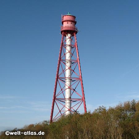 Das Leuchtfeuer Campen ist der höchste Leuchtturm DeutschlandsBreite: 53° 24' N, Länge: 007° 01' E