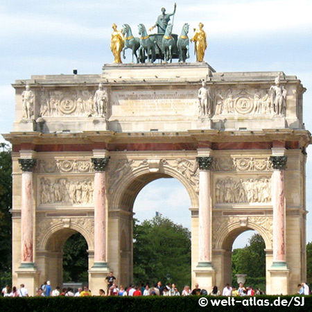 Arc de Triomphe du Carrousel, triumphal arch near The Louvre