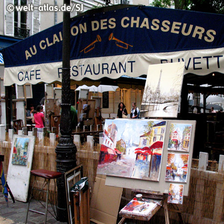 Künstler-Café in Paris