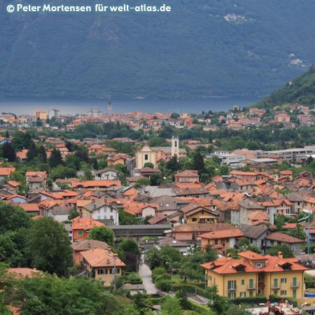 View from Cannobina Valley to Cannobio, Lake Maggiore