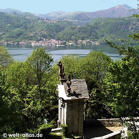 Ortasee, Piemont,Blick vom Sacro Monte, Lago d'Orta, Italien