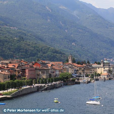 Uferpromenade von Cannobio am Lago Maggiore