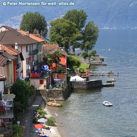 Lago Maggiore between Magadino and Ranzo
