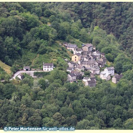The village Socraggio in Cannobina Valley at the upper Lake Maggiore