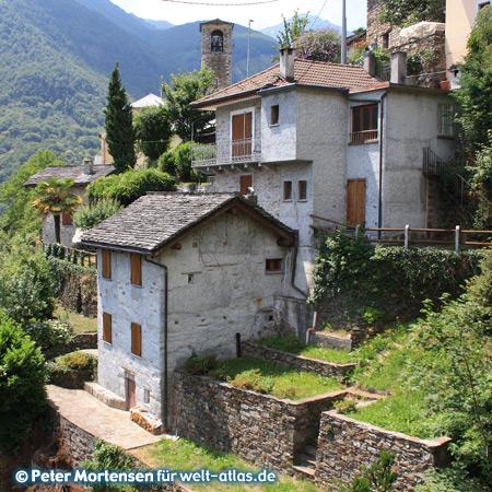Das Dorf Falmenta im Valle Cannobina in der Provinz Verbano-Cusio-Ossola
