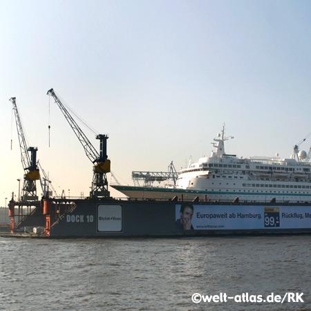 Foto Hamburger Hafen Dock 10 Elbe Kr 228 Ne Welt Atlas De