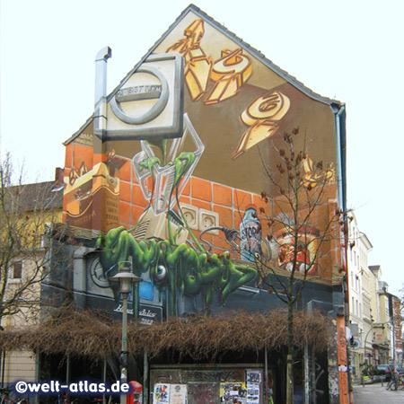 Graffiti im Hamburger Karolinenviertel, kurz Karoviertel genannt