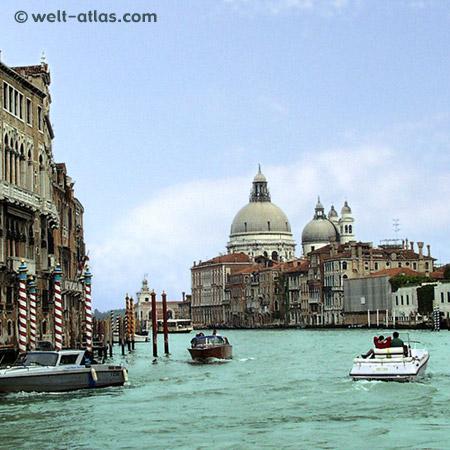 Venedig, Canal Grande mit Santa Maria della Salute