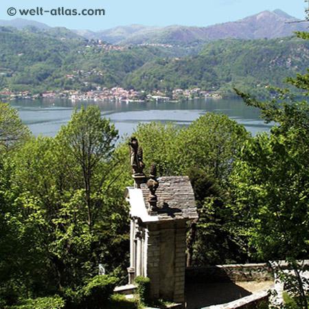 Ortasee, Piemont,Blick vom Sacro Monte