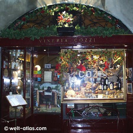 Winery in Bergamo Alta, Lombardy, Italy
