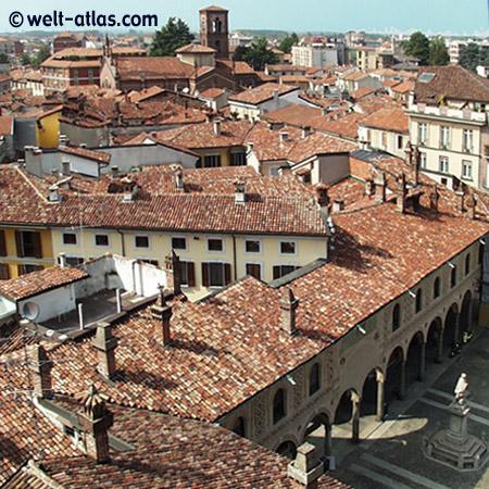 Dächer von Vigévano, Lombardei
