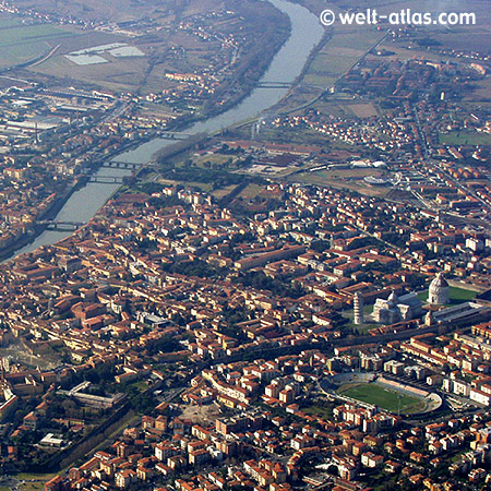 Pisa from above, Tuscany