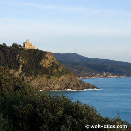 Coast line between Pisa and Livorno