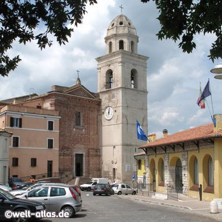 Kirche von Sirolo, Riviera del Conero, Marken, Adria, Italien