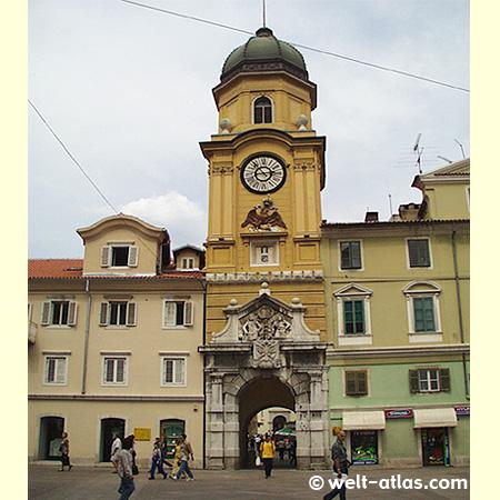 Der Stadtturm von Rijeka
