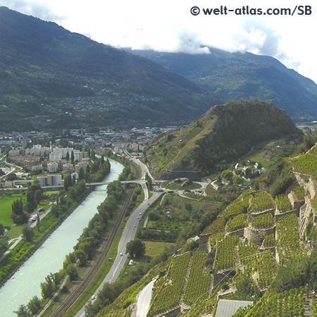 Sion, Sitten, Wine, Valais, Switzerland