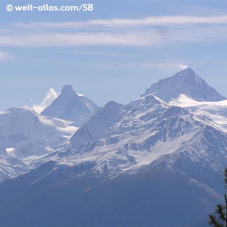 Blick auf das Matterhorn von Crans Montana