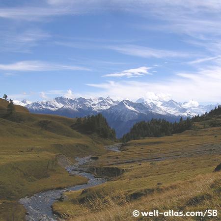 Bisse du Tsittoret, Crans Montana, Valais, Switzerland