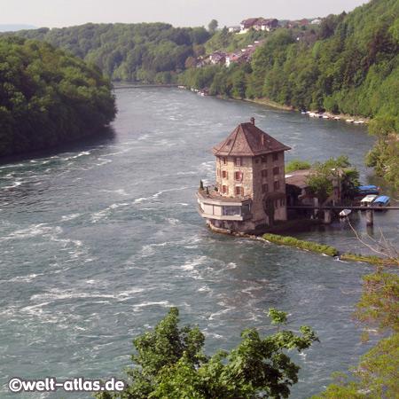 Schlössli Wörth,Rhein, Rheinfall, Schaffhausen, Switzerland