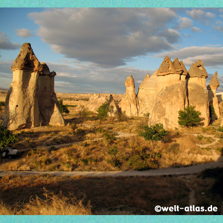 mushroom shaped fairy chimneys at Pasabag valley