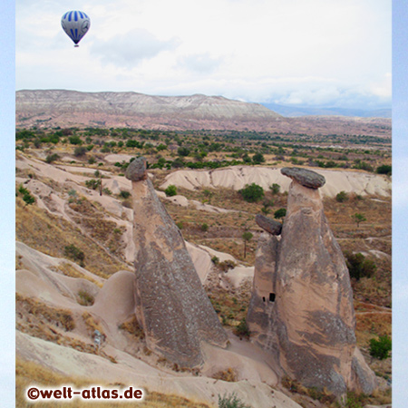 Hot Air Ballooning, one of the highlights  in Cappadocia