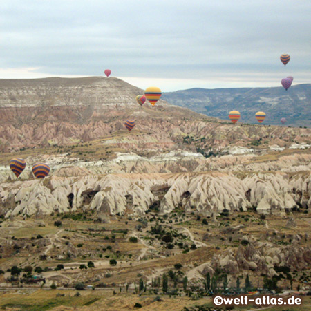 Heissluftballons über Kappadokien
