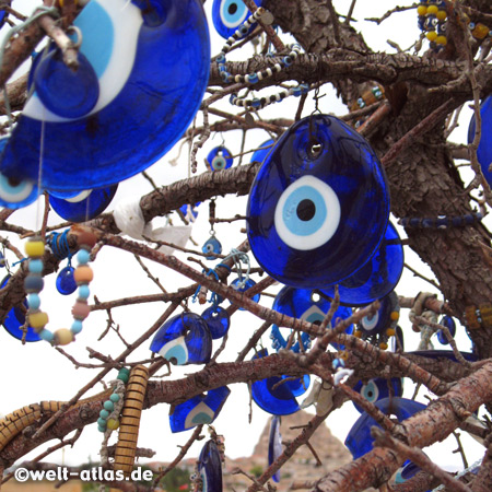 Blue eyes, Nazars in the tree, Cappadocia