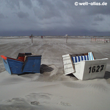 stormy weather in St. Peter-Ording