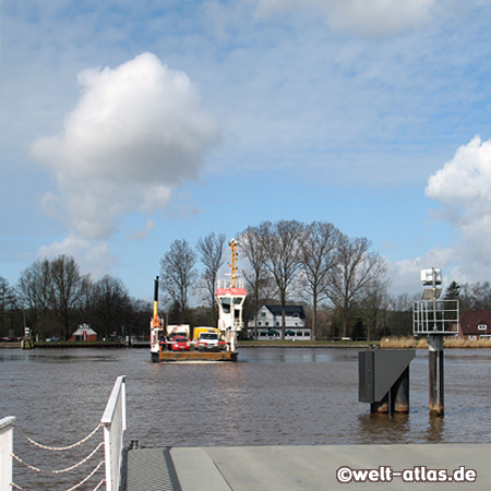 Ferry over the Kiel Canal near Burg