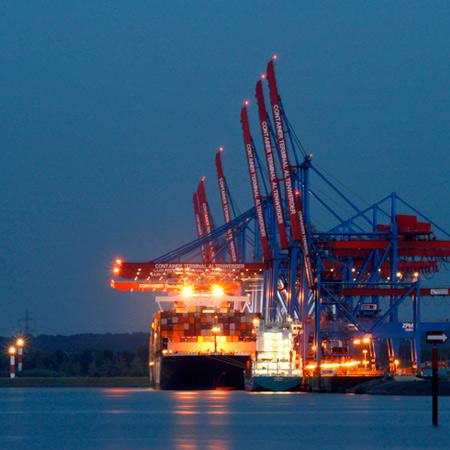 Hamburg Blue Port, Container Terminal CTA Altenwerder, Cruise Days 2010, Germany