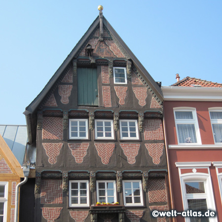 Half-timbered house in the old town of Buxtehude