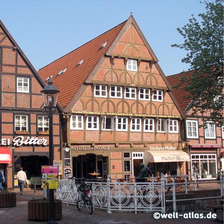 Fachwerkhäuser am Westfleth in Buxtehude