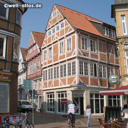 "Timber framed historic town of Jork in the ""Altes Land"""