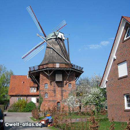 Galerieholländer, Windmühle Aurora in Borstel/Jork, Die Mühle, Restaurant & Café