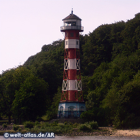 Leuchtturm Wittenbergen am Falkensteiner Ufer, Hamburg
