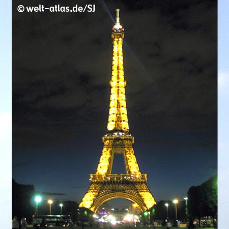 Der eiffelturm bei nacht paris beschreibung der eiffelturm bei nacht