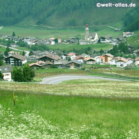 Sommerwiesen im Wallfahrtsort Unser Frau im Schnalstal