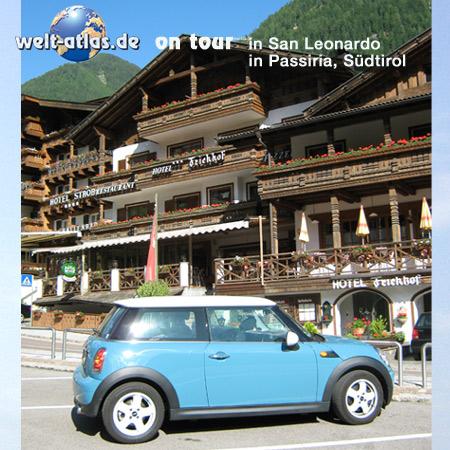 welt-atlas ON TOUR mit Mini in San Leonardo in Passiria, Passeiertal