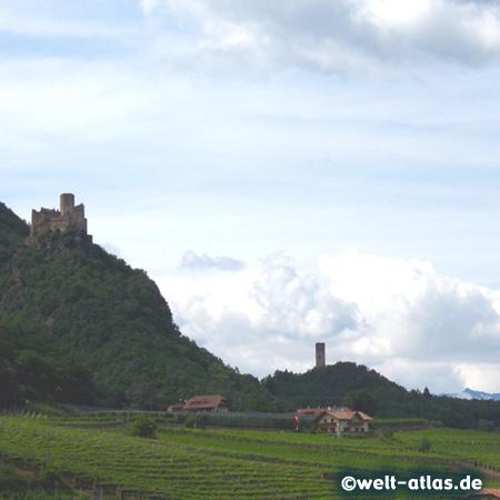 Burg Hocheppan und Kreideturm, bei Missian an der Weinstrasse