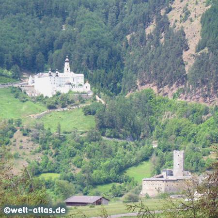 Die Fürstenburg und das Kloster Marienberg, Benediktinerkloster in Burgeis im Vinschgau