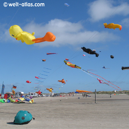 Kites in St. Peter-Ording, North Sea Germany