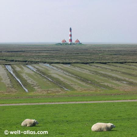 Lighthouse, Westerhever,Position: 54° 22,5′ N / 08° 38,5′ E