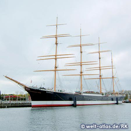 Barque Passat,maritime landmark of Lübeck-Travemünde