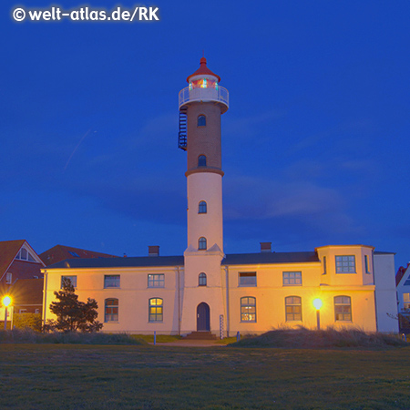Lighthouse of Timmendorf on the island of Poel in the Bay of Wismar
