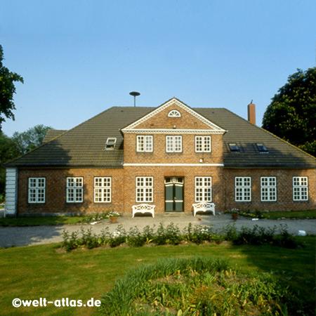Gut Friederikenhof in Wangels, in der Nähe von Weißenhäuser Strand, historisches Foto