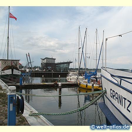 Hafen der Stadt Barth am Barther Bodden, Ausgangspunkt für die Region Fischland-Darss-Zings